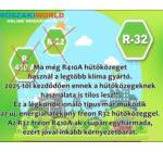 Gree Amber 3,5 kw (GWH12YC-K6DNA1A) Inverteres Hűtő-fűtő, R32, Wifi, split klíma