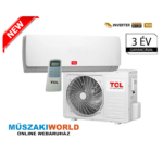 TCL Elite 2,6 Kw (R32) Inverteres,Wifi vezérlés (opcionális) split klímaértékesítés Szállítva és Szerelve