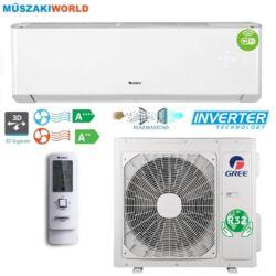Gree Amber 2,7 kw (GWH09YC-K6DNA1A) Inverteres Hűtő-fűtő, R32, Wifi, split klíma