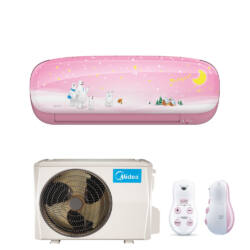 Midea Kids Pink Inverter 3,5 kw (R410A) Oldalfali,WIFI funkciós, Inverteres Hűtő-fűtő split klíma