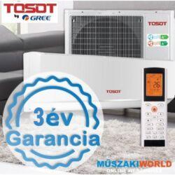 Tosot by Gree (Venus) 3,5 kw (R32) Inverteres Integrált Wifi vezérlés, Fűtésre optimalizált, 3D, split klímaértékesítés Szállítva és Szerelve