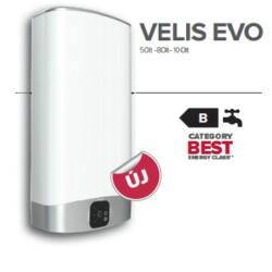Ariston Velis EVO 100 EU Elektromos vízmelegítő Kiszállítva Felszerelve Beüzemelve
