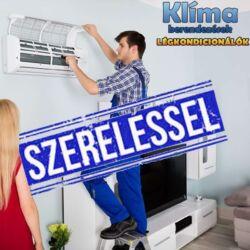 Gree Lomo Plusz Inverteres 3,2 kw (R32) Integrált Wifi vezérlés split klímaértékesítés Szállítva és Szerelve