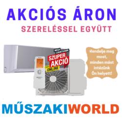 Rcool Onyx Black 3,5 kw (R32) Inverteres Wifi vezérlés (Integrált ) 4D split klímaértékesítés Szállítva és Szerelve