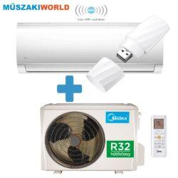 Midea Blanc Inverter 2,6 kw (R32) Integrált WIFI, Inverteres Hűtő-fűtő split klíma