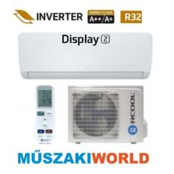 Rcool Display2 12 3,5 kw (GRA12B0-GRA12K0) Inverteres, wifi, Hűtő-fűtő split klíma (R32)