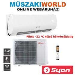 Syen Muse inverter 2,5 kw (SOH09MU-E32DA1A) Téliesíttet, inverteres, wifi, Hűtő-fűtő split klíma (R32)