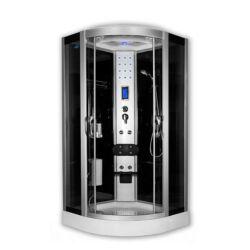 Sanimix 22.8318 Negyedköríves Hidromasszázs Zuhanykabin Elektronikával 100x100x215
