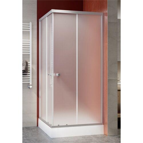 Szögletes zuhanykabin, króm, tálca nélkül 80*80*185