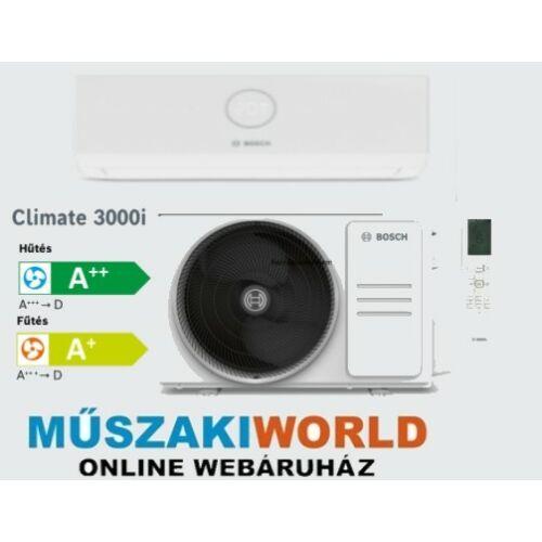 Bosch Climate 3000i 2,6 kw Inverteres,Hűtő-fűtő split klíma (R32)