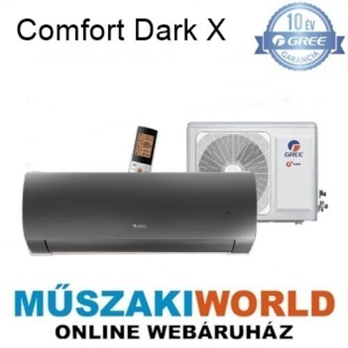 Gree Comfort Dark X 2,7 kw (GWH09ACC-K6DNA1A) Téliesíttet, inverteres, wifi, Hűtő-fűtő split klíma (R32)