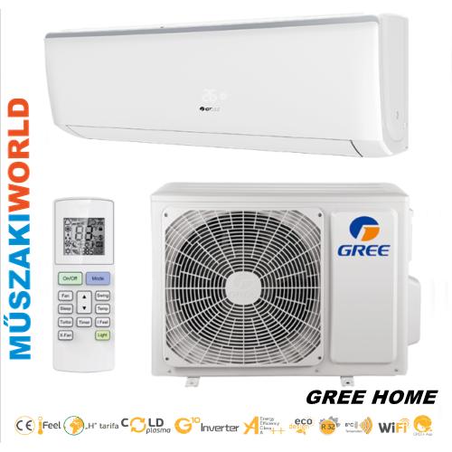 Gree Home/Bora 4,6 kw (GWH12AAB-K6DNA1B) Inverteres, wifi, Hűtő-fűtő split klíma (R32)