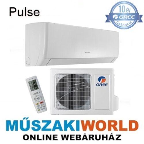 Gree Pulse 2,5 kw (GWH09AGA-K6DNA1A), inverteres, 3D légáram, wifi, Hűtő-fűtő split klíma (R32)