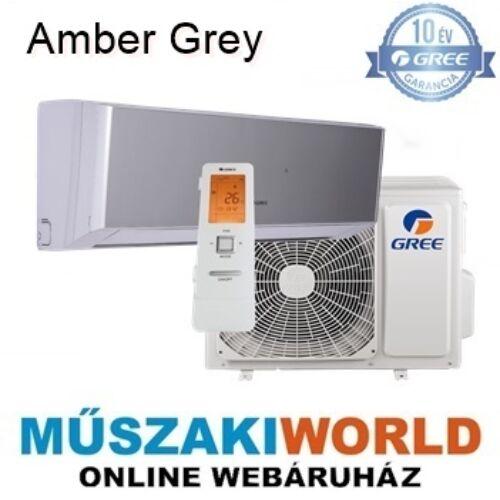 Gree Amber Grey 3,5 kw (GWH12YC-K6DNA2A) Téliesíttet, inverteres, 3D légáram, wifi, Hűtő-fűtő split klíma (R32)