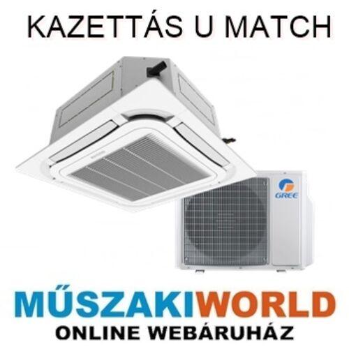 Gree UM3 3,5 KW  (GKH12K3FI/GUD35T) Inverteres komplett kazettás klíma szett (kültéri egységgel)