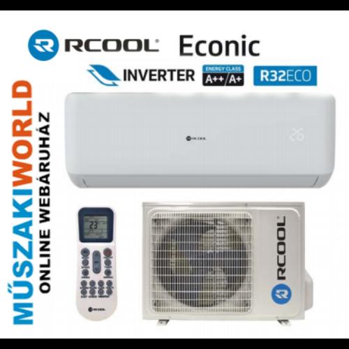 RCOOL ECONIC 12 3,5 Kw (GRAE12B932-12K932) Inverteres, Hűtő-fűtő split klíma (R32)
