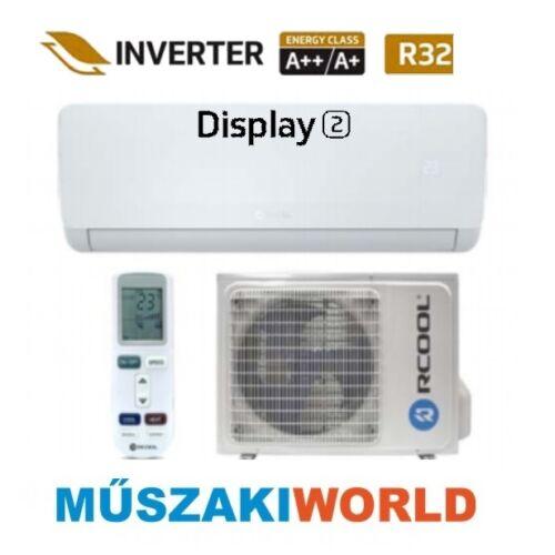 Rcool Display2 12 3,5 kw (GRA12B0-GRA12K0) Inverteres, wifi, Hűtő-fűtő split klíma (R32)