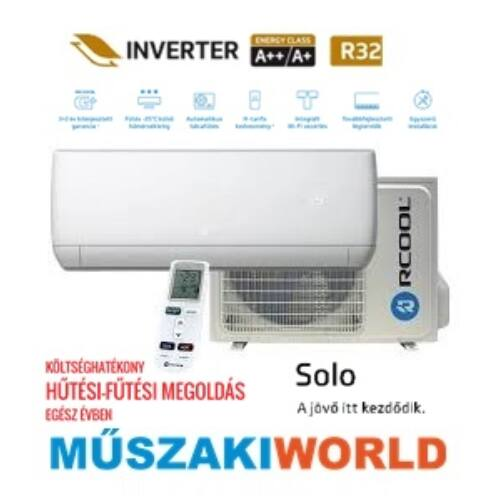 Rcool Solo 18 5,1 kW (GRAJ18B932-GRAJ18K932) Inverteres, wifi, Hűtő-fűtő, téliesíttet, split klíma (R32)