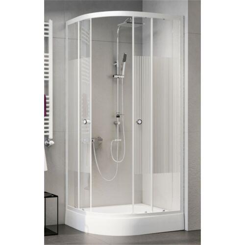 Sanimix 22.150 MUNCHEN LIGHT Negyedköríves zuhanykabin tálca nélkül 90x90x185 MUNCHEN LIGHT