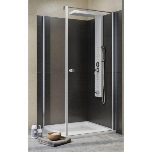 Zuhanykabin viztiszta üveggel tálca nélkül 80x80x190