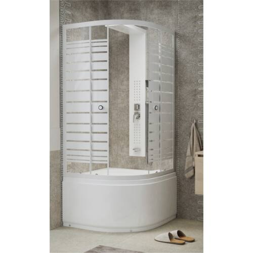 Sanimix 22.44.5 Negyedköríves mélytálcás zuhanykabin 90x90x205