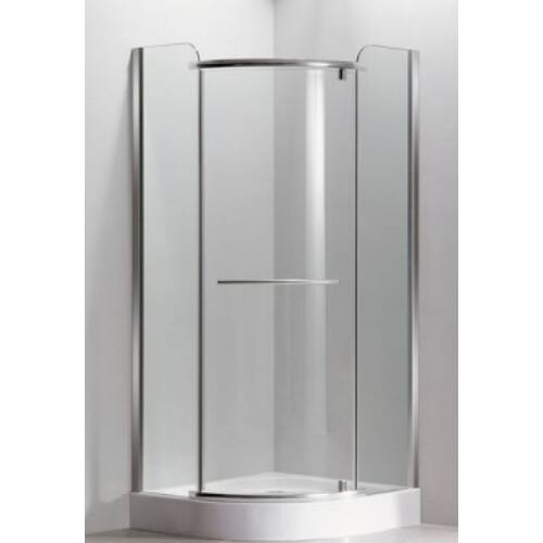 Sanimix  22.1532-80 Negyedköríves zuhanykabin keret nélküli nyílóajtós 80x80x210