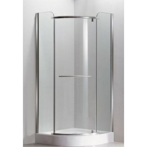 Sanimix 22.1532 Negyedköríves zuhanykabin keret nélküli nyílóajtós 90x90x210