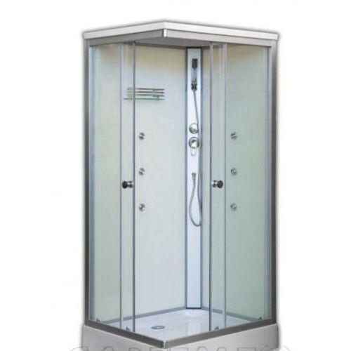 Sanimix 22.8708 Szögletes Hidromasszázs zuhanykabin 100*80*215cm