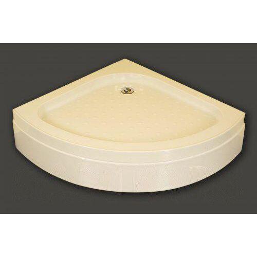 Negyedköríves akril zuhanytálca, fém lábbal 90x90x15 cm