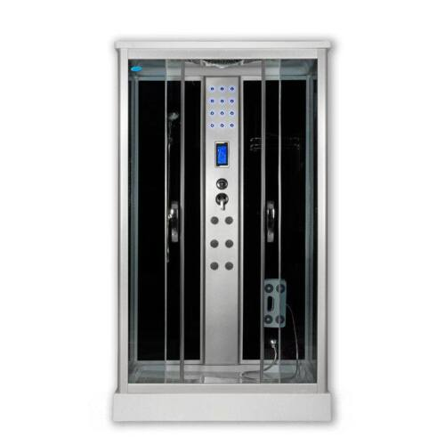 Sanimix 22.8707 Szögletes hidromasszázs zuhanykabin elektronikával 100x80x215 cm