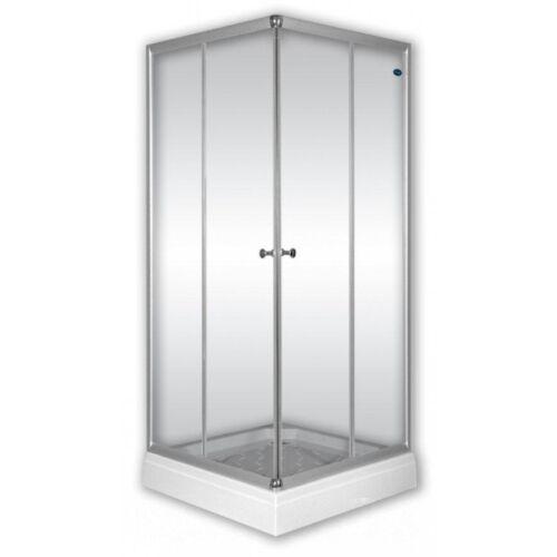 Sanimix 22.1512 Szögletes zuhanykabin átlátszó üveggel 90x90x200 cm