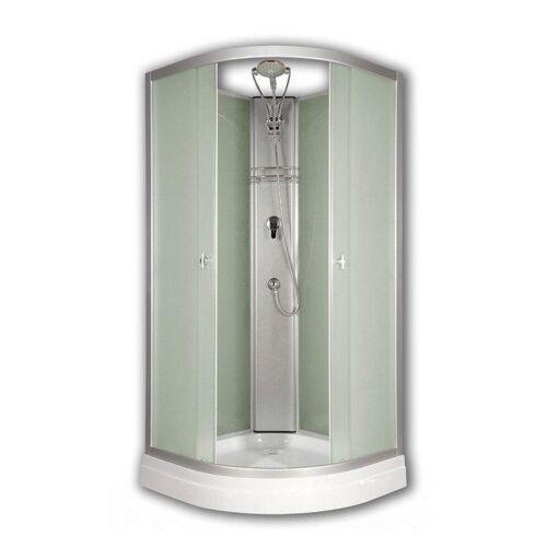 Sanimix 22.126 PRIMO Negyedköríves Üveghátfalas zuhanykabin tető nélkül Primo 90x90x200